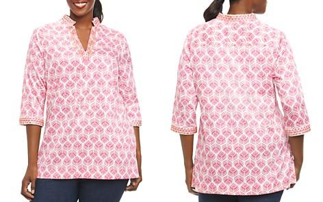 Foxcroft Plus Print Tunic Top - Bloomingdale's_2