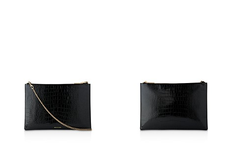Whistles Rivington Shiny Croc-Embossed Leather Clutch - Bloomingdale's_2