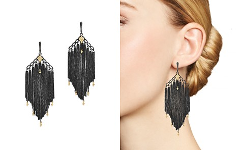 Armenta 18K Yellow Gold & Blackened Sterling Silver Old World Cravelli Champagne Diamond Chain Chandelier Earrings - Bloomingdale's_2