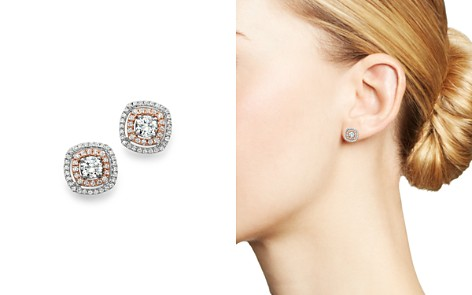 Bloomingdale's Diamond Stud Earrings in 14K Rose & White Gold, 0.75 ct. t.w. - 100% Exclusive _2