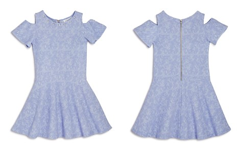 US Angels Girls' Textured Cold-Shoulder Dress - Little Kid - Bloomingdale's_2