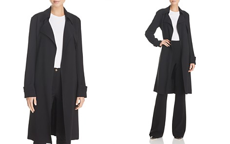 Theory Oaklane B Silk Trench Coat - Bloomingdale's_2
