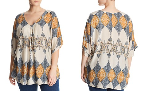 B Collection by Bobeau Curvy Presley Scarf Print Top - Bloomingdale's_2