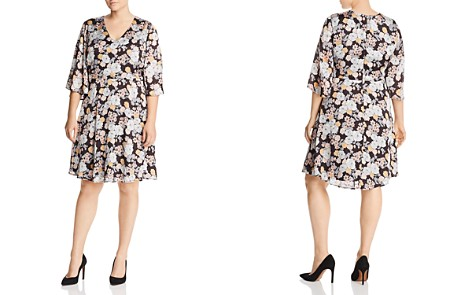 B Collection by Bobeau Curvy Florice Floral Print Dress - Bloomingdale's_2