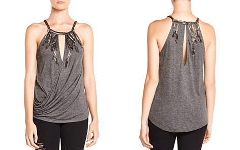 Haute Hippie Hippie Trails Embellished Draped Crossover Top - Bloomingdale's_2