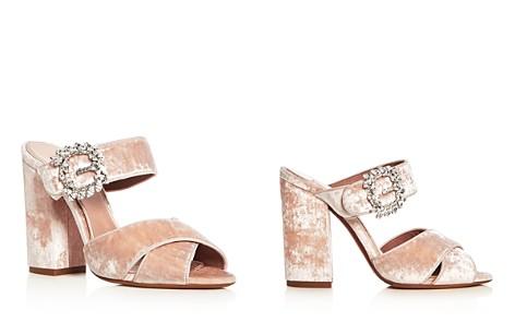 Tabitha Simmons Women's Reyner Embellished Velvet High Block Heel Slide Sandals - Bloomingdale's_2