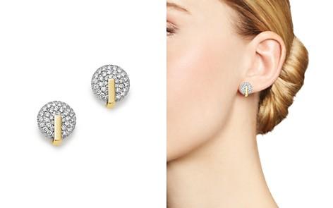 Roberto Coin 18K Yellow & White Gold Diamond Disc Earrings - Bloomingdale's_2