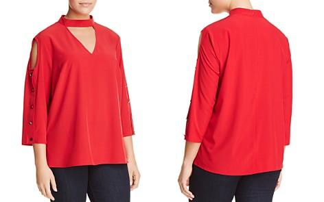 Love Scarlett Plus Cold-Shoulder Button-Sleeve Top - Bloomingdale's_2