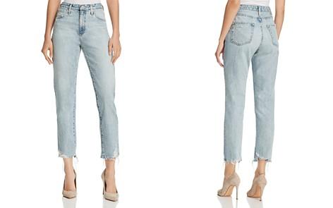 AG Phoebe Vintage High Waist Tapered Jeans in Bering Wave - Bloomingdale's_2