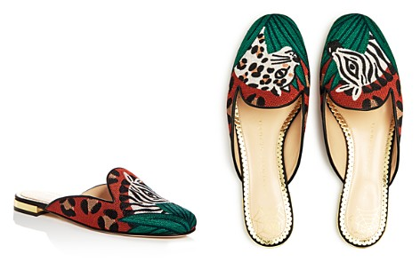 Charlotte Olympia Women's Animal Kingdom Embroidered Mules - Bloomingdale's_2