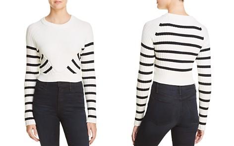 T by Alexander Wang Striped Crop Sweater - Bloomingdale's_2