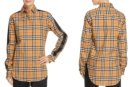 Burberry Saoirse Side-Stripe Check Print Shirt - Bloomingdale's_2