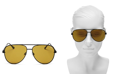 Quay #QUAYXDESI Sahara Aviator Sunglasses, 56mm - Bloomingdale's_2