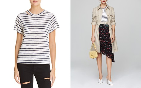 LNA Iles Striped Cutout Tee - Bloomingdale's_2