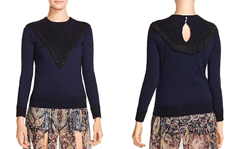 Haute Hippie Lucky Stars Embellished Sweater - Bloomingdale's_2