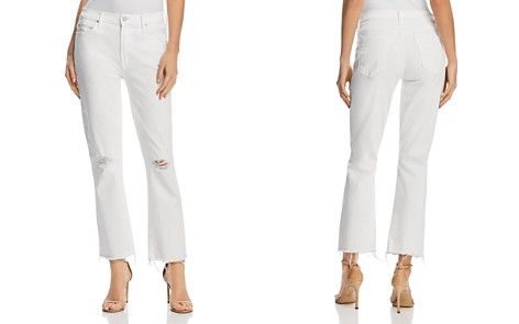 MOTHER Rascal Ankle Fray Cropped Flared Jeans in Little Miss Innocent - 100% Exclusive - Bloomingdale's_2