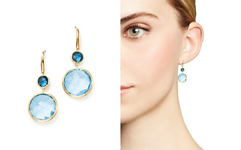 Marco Bicego 18K Yellow Gold Jaipur Mixed Blue Topaz Drop Earrings - 100% Exclusive - Bloomingdale's_2