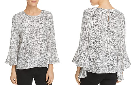 VINCE CAMUTO Printed Cascade-Sleeve Top - 100% Exclusive - Bloomingdale's_2
