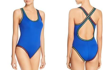La Blanca Threading Crossback One Piece Swimsuit - Bloomingdale's_2