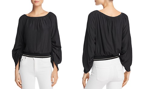 Ramy Brook Johanna Ruched-Sleeve Top - Bloomingdale's_2