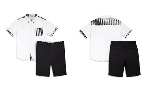 Armani Junior Boys' Chevron Button-Down & Shorts Set - Little Kid, Big Kid - Bloomingdale's_2