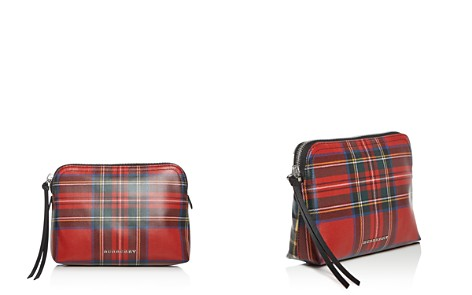 Burberry Large Plaid Laminated Wool Zip Pouch - Bloomingdale's_2