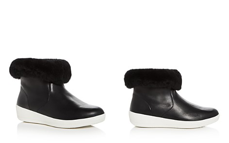FitFlop Women's Skatebootie Leather & Shearling Booties - Bloomingdale's_2
