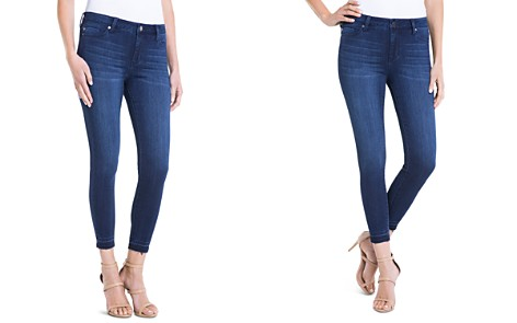 Liverpool Avery Cropped Released-Hem Jeans in Dark Blue - Bloomingdale's_2