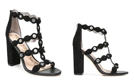 Sam Edelman Women's Yuli Suede Grommet Block Heel Sandals - Bloomingdale's_2