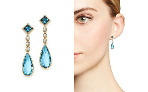 Olivia B 14K Yellow Gold London Blue Topaz, Swiss Blue Topaz & Diamond Drop Earrings - 100% Exclusive - Bloomingdale's_2