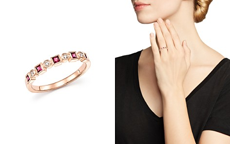 Bloomingdale's Ruby & Diamond Band in 14K Rose Gold - 100% Exclusive _2