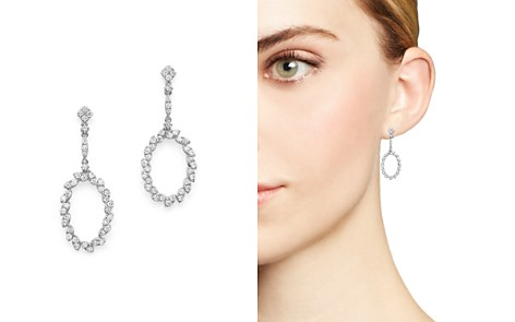Bloomingdale's Diamond Oval Drop Earrings in 14K White Gold, 0.95 ct. t.w. - 100% Exclusive _2