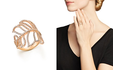 Bloomingdale's Diamond Leaf Statement Ring in 14K Rose Gold, 1.20 ct. t.w. - 100% Exclusive _2