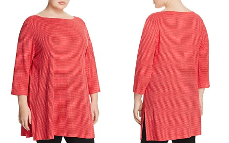 Eileen Fisher Plus Striped Tunic - Bloomingdale's_2
