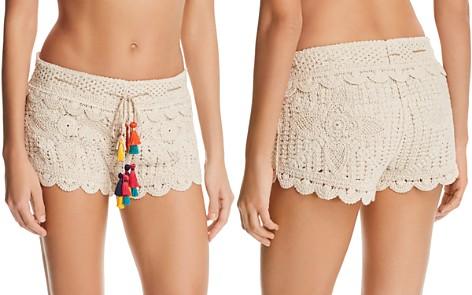 Surf Gypsy Tassel-Detail Crochet Shorts - Bloomingdale's_2