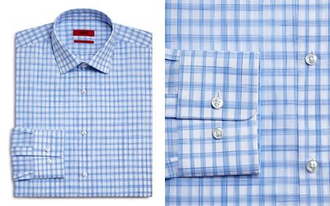 HUGO Brush Check Regular Fit Dress Shirt - Bloomingdale's_2