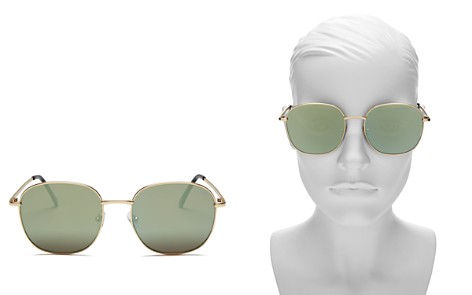 Quay Jezabell Mirrored Round Sunglasses, 54mm - Bloomingdale's_2