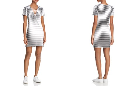Bardot Lace-Up Striped Dress - Bloomingdale's_2
