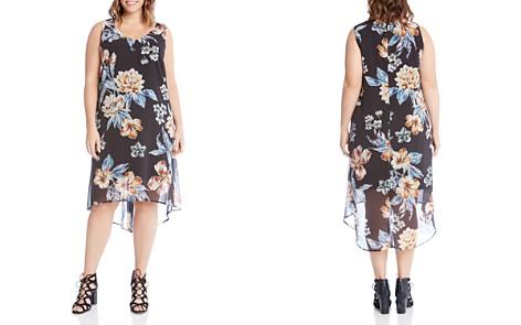 Karen Kane Plus Floral-Print High/Low Dress - Bloomingdale's_2