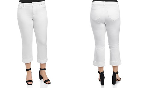 Foxcroft Plus Cropped Jeans in White - Bloomingdale's_2