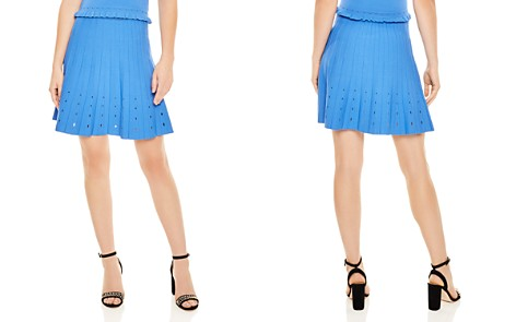 Sandro Izzy Pleated Eyelet-Detail A-Line Skirt - Bloomingdale's_2