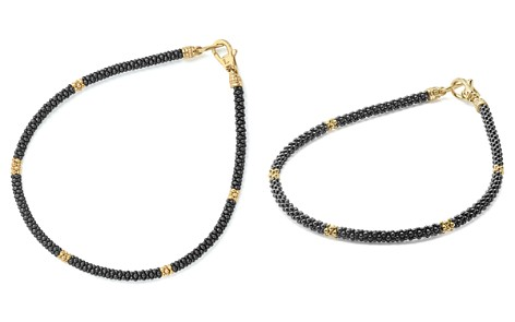 LAGOS Gold & Black Caviar Collection 18K Gold & Ceramic Rope Bracelet - Bloomingdale's_2