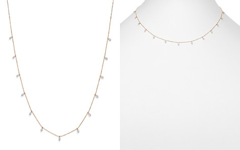 Bloomingdale's Diamond Station Drop Necklace in 14K Rose Gold, 0.50 ct. t.w. - 100% Exclusive _2