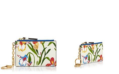 Tory Burch Robinson Floral Leather Card Case - Bloomingdale's_2