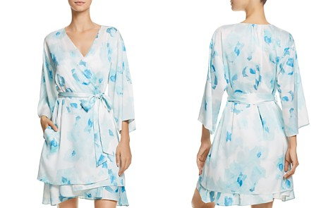 kate spade new york Rose-Print Bridal Robe - Bloomingdale's_2