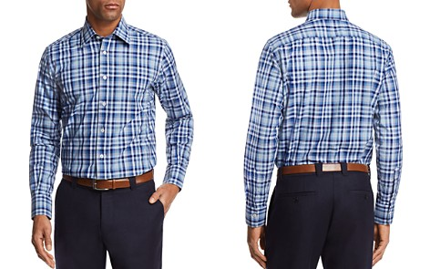 Canali Multi Check Regular Fit Button-Down Shirt - Bloomingdale's_2