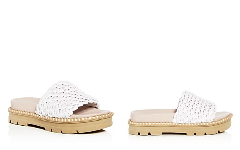 Daniella Lehavi Women's Hanoi Smocked Leather Platform Slide Sandals - 100% Exclusive - Bloomingdale's_2