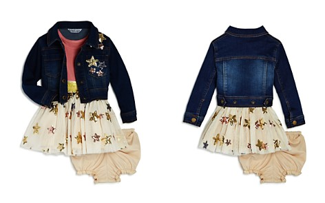 Pippa & Julie Girls' Sequin-Star Denim Jacket, Tutu Dress & Bloomers Set - Baby - Bloomingdale's_2
