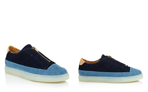 Pairs in Paris Women's Two Tone Chambray Zip Sneakers - Bloomingdale's_2