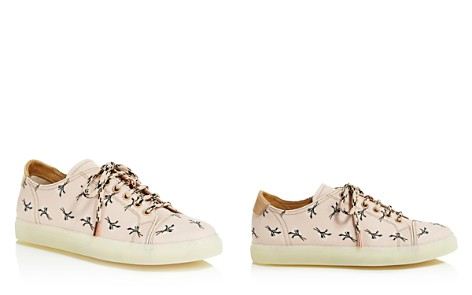 Pairs in Paris Women's Floral Print Leather Low Top Lace Up Sneakers - 100% Exclusive - Bloomingdale's_2